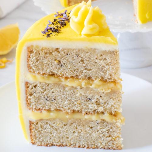 Earl Grey Tea Cake With Lemon Curd Buttercream Reality Bakes